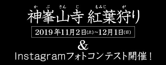 『神峯山寺 紅葉狩り』&SNSフォトコンテスト